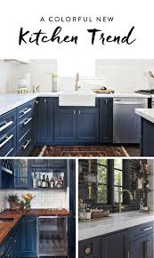 painted blue kitchen cabinets break out the paint blue kitchens are très chic right now navy
