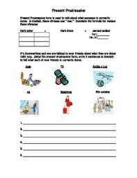 present progressive worksheet spanish travel vocabulary by