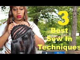 the best way to sew a hair weave full sew in weave hair tutorial 3 techniques youtube