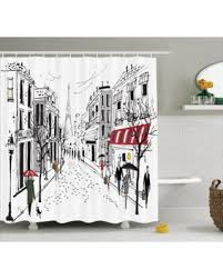 Bathroom Accessories Stores by Incredible Deal On Paris Decor Shower Curtain Set Illustration Of