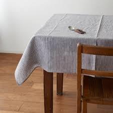table cloth tablecloth grey white thin stripe shop fog linen