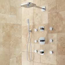 Bathroom Shower Systems Arin Thermostatic Shower System With Shower 6 Sprays