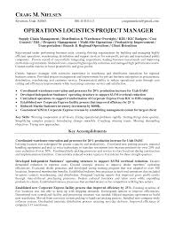 Operations Management Resume Logistics Operations Manager Resume Operations Logistics Project
