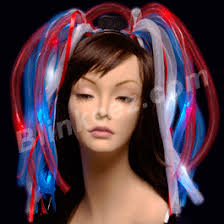 4th of july headband 4th of july noodle headband w white blue leds
