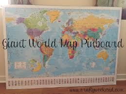 giant world map pinboard crafty weekend craft projects for the
