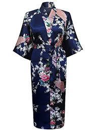 kimono robe de chambre cityoung kimono japonais en satin robe de chambre peignoir