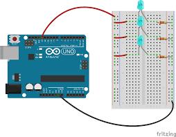 Led Blinking Circuit Diagram Fritzing Project U2013 Multiple Led Blink