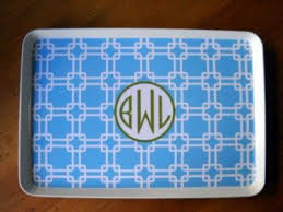 monogrammed platters and trays plates trays the monogram merchant