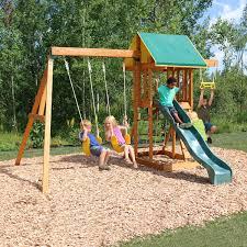 backyard playground sets big meadowvale ii wooden play set walmart
