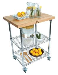 john boos butcher block u0026 chrome metro kitchen cart