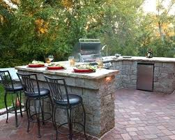 Backyard Bar Ideas Backyard Grill Ideas Brick Patio Kitchen Photo In