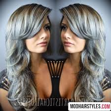 gray hair color trend 2015 2016 hair color ideas metallic ash blonde and gray hair colors