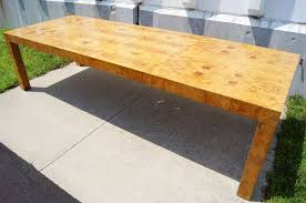 burl wood dining room table dining table by milo baughman for thayer coggin at 1stdibs