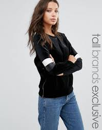 brautkleid spitze tã ll glamorous pullover mit samteinsatz schwarz damen glamorous