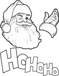 free printable santa claus coloring kids 8