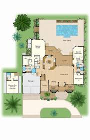 florida house plans with pool kitchen florida housens one story with pool two courtyard 66