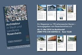 architektur rosenheim buch architektur in stadt und landkreis rosenheim
