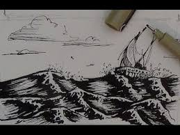 pen and ink drawing tutorial how to draw water youtube