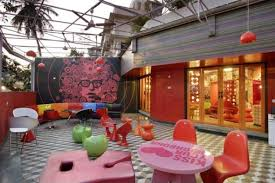 cafe interior design india chic and intriguing colorful dining area design of mochamojo cafe in