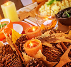thanksgiving day table decor royalty free stock image image