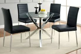 glass dining table u0026 black chairs orange county furniture