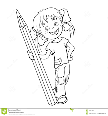 coloring pages girls pencil coloring