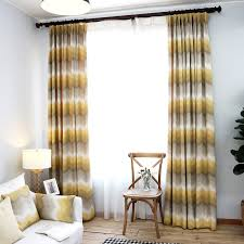 Gray Chevron Curtains Yellow And Grey Ombre Chevron Jacquard Poly Cotton Blend Curtain Ideas