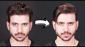 how to get straight hair men u0027s curly to straight hair tutorial
