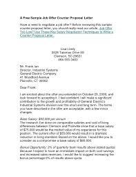 counter offer salary letter sample the letter sample