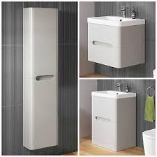 Modern Cashmere Basin Sink Bathroom Vanity Unit Furniture Storage - Designer vanity units for bathroom