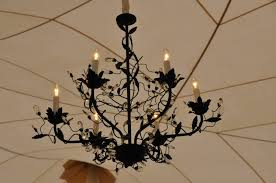 Iron Chandelier With Crystals Wrought Iron Revelation Productions
