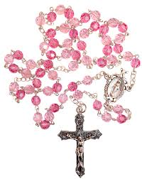 pink rosary amm r204 brilliant pink rosary