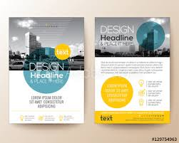 flyer graphic design layout poster flyer phlet brochure cover design layout with circle shape