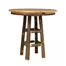 Rustic Pub Table Set Rustic Hickory 36