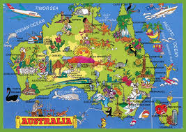 australia tourism bureau tourist map of australia