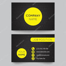 business card template yellow and black pattern vector design