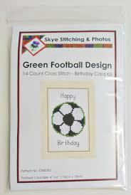 football design happy birthday card 14 count cross stitch kits
