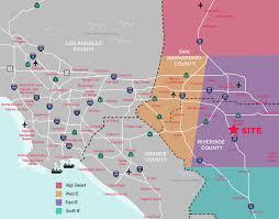 San Bernardino County Map Perris Distribution Center Location