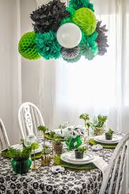 st patrick u0027s day blogger party giant honeycomb garland revel