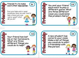 friendship cards friendship cards social skills prompts by lynette tpt