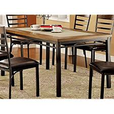 amazon com industrial wood and metal dining table tables