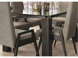 canadel east side customizable dining table with glass top dunk