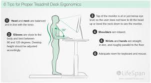 desk ergonomics for treadmill standing desks
