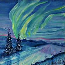 how to paint northern lights heatherbell barlow northern lights artists illustrators