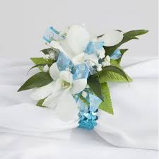Blue Orchid Corsage Glam Dendrobium Orchid Wrist Corsage Martin U0027s Specialty Store