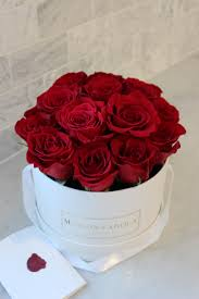 boxed roses signature roses in white box maison farola detroit floral