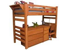 university loft graduate series twin xl open loft bed wild cherry
