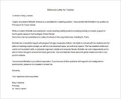 letter of recommendation for teacher u2013 9 free word excel pdf