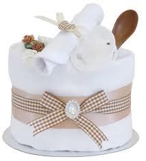 signature beige single tier unisex nappy cake baby hamper baby