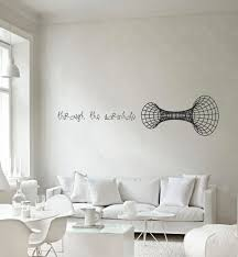 science art through the wormhole vinyl wall decal for your lab zoom